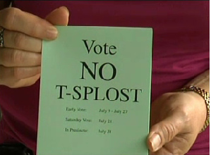Vote No T-SPLOST 31 July 2012