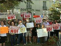 Protesters at City Hall