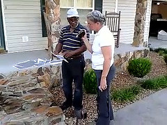 Michael McCormick showing ground scans of sinkholes to Gretchen Quarterman