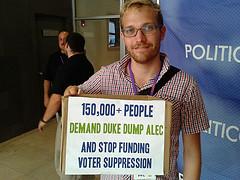 150,000+ People Demand Duke Dump ALEC --Whit Jones