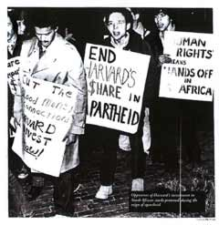 End Harvard's Share in Apartheid