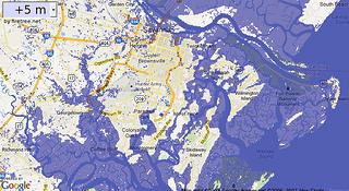 5 meter (15 foot) storm surge in Savannah