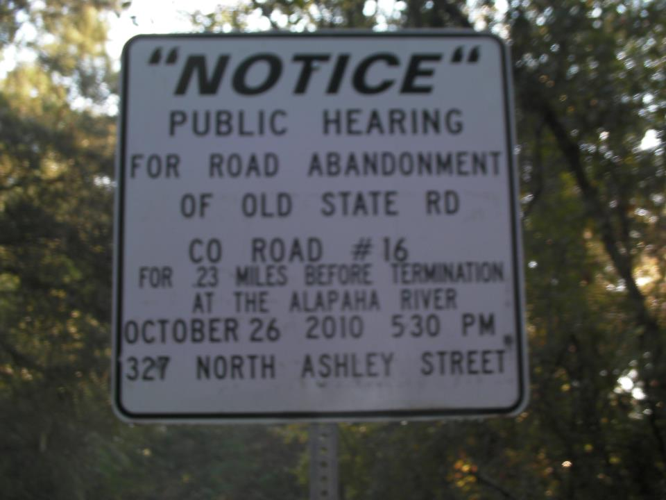 2010 public hearing sign