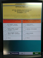Lowndes County Official Ballot