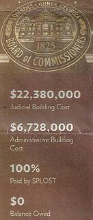 Zero balance on the county palace?