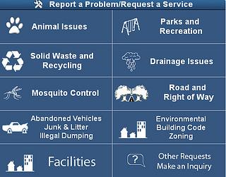 Report a Problem or Request a Service